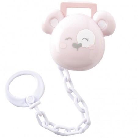 Protege Chupete Con Cadena Saro Happy Teddy