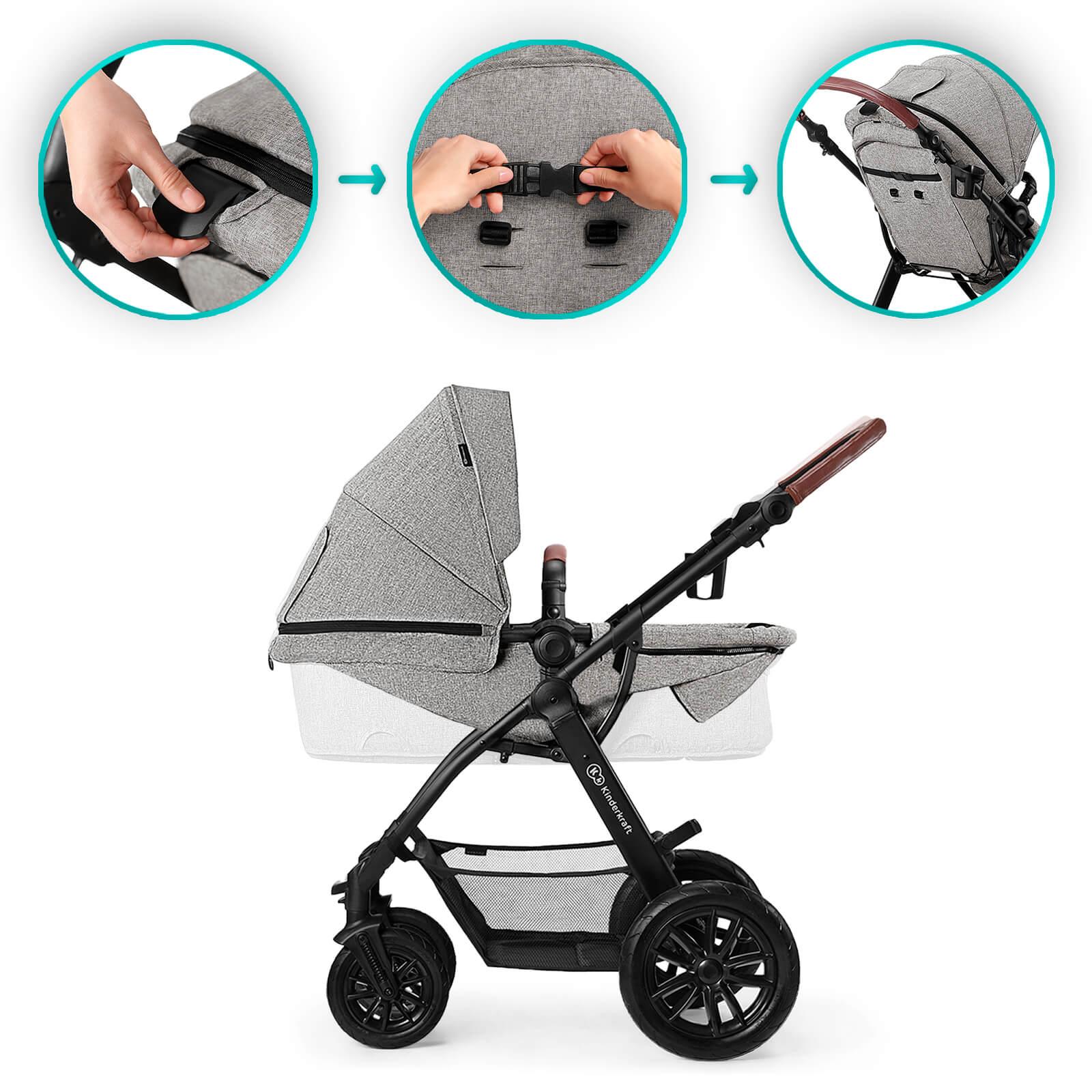Cochecito Bebe Kinderkraft Xmoov 3 en 1 .Comprar a precio online